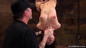 xxarxx Slim brunette in extreme hogtie bondage
