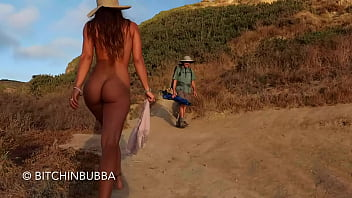 walking naked on the public beach
