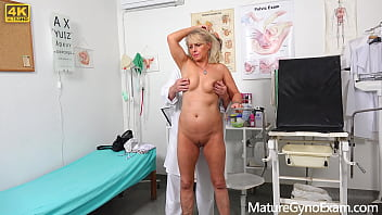 Hot Granny Koko Blond on her kinky gyno exam - MatureGynoExam.com