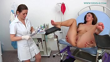 Female doctor does gyno examination