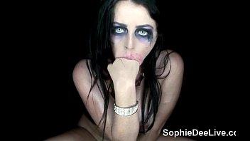 Spooky slut Sophie Dee is a freaky Halloween trick!