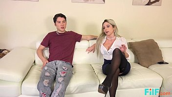 FILF - Hot Blonde MILF Fucked By Her Son's Friend thumbnail
