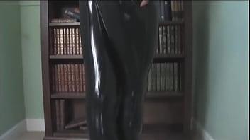 Hot Brunette Slut Strips in Latex HD - bit.do/cKcM3