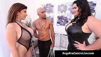 Streaming Video Cuban BBW Angelina Castro & King Noir Make Sara Jay Submit! - XLXX.video