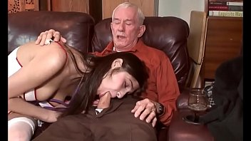 young brunette first time debut with grandpa thumbnail
