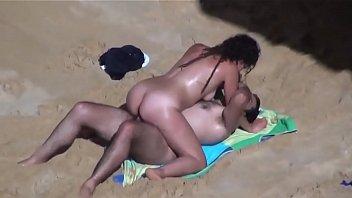 Dark Hair Couple Beach.avi