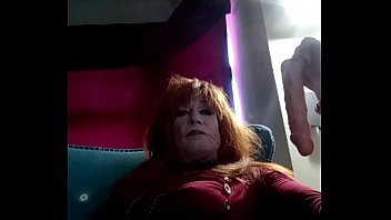 Sexy tranny gets herself off and swallows her warm cum