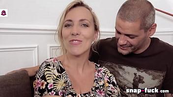Milf Mya Lorenn enjoys anal threesome in Paris! Snap-Fuck.com