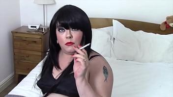 Chubby UK Mistress Tina Snua Talks Dirty Sissy Talk & Smokes