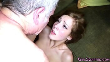 Teen takes cum on face