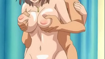 Hentai of the boy inserting the roll in the delicious busty