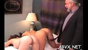 Woman screams with man smashing her muff in extraordinary bondage