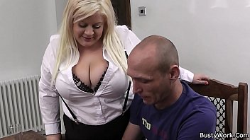 xxarxx Busty blonde secretary blowjob and cock riding