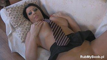 Big Boobs Latoya RoXX as sexy dressed student