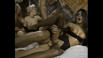 Two hot girl fucked by 3 Men Vintage movie porn