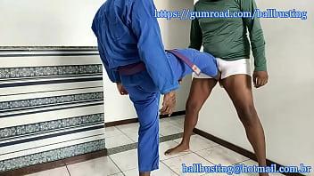 Brazilian jiujitsu ballbusting...