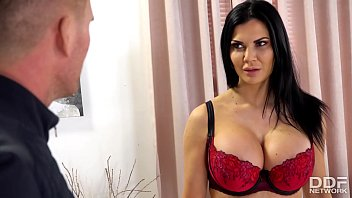 Jasmine Jae is having sex in the pussy and gets the cum on her breasts.