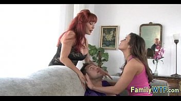 Mom and daughter threesome 0177