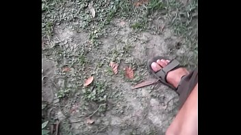 Outdoor Indian Cock jerk and flash