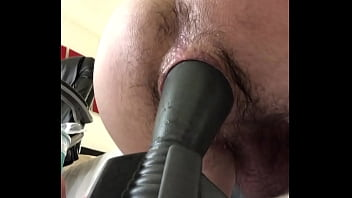 Teen Using Huge Butt Plug and Hairy Gape - gay4.live
