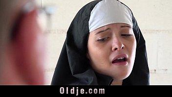 Old man makes y oung monastery nun fornicate nun fornicate