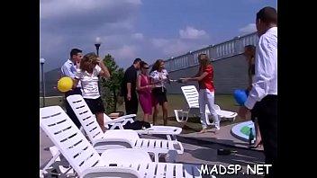 Hot and horny women enjoy wet fun in group sex scene