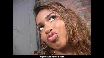 black girl have surprise gloryhole 9