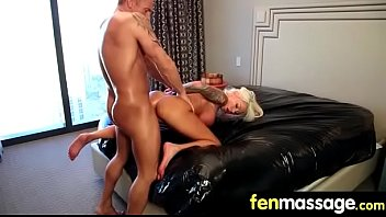Gorgeous Skinny gets a massage 25