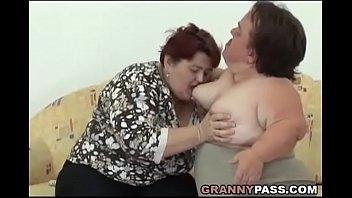 thumb Lesbian Midget Pleases A Bbw Granny