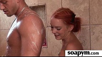 Masseuse shows her AMAZING body in a hot soapy massage 8