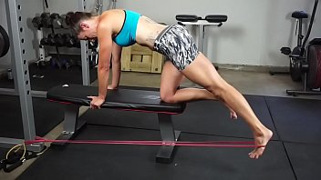 Super Fit Milf Workout Barefoot Part 1- www.prettyfeetvideo.com