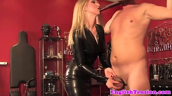 Femdom Torments Tiedup Sub With Objects