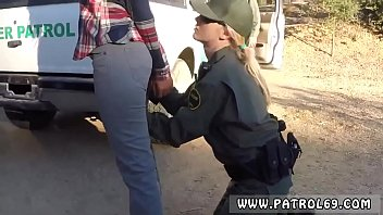 Kimmy and marsha pervs on patrol Amateur Threesome for Border Slut