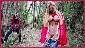 Busty Blonde  Lexi Lowe Runs Into The Big B  Into The Big Bad Wolf In The Woods