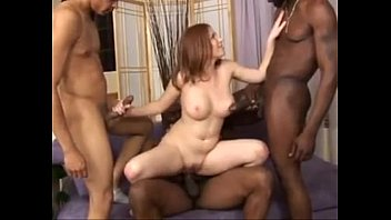 Husband films wife riding black cock