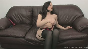 cover video Stockings Look Amazing On This Incredible Brunette