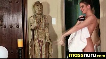 busty teen gives nuru sex massage 8