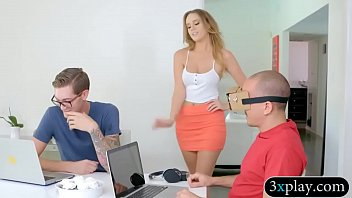 Pretty blonde babe rammed by her stepbro