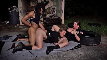 BLACK PATROL - MILF Cops With Big Tits And Thicc Asses Riding Criminal'_s Big Black Cock