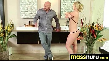 Naughty chick gives an amazing Japanese massage 22