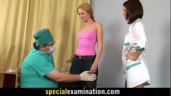 Examine nurse sexy blonde young gynecologist and know