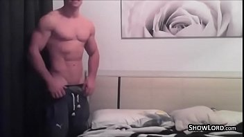 Athletic amateur strong guy...