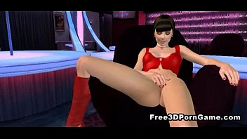 Two sexy 3D cartoon honeys double teaming a stud