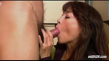 Mature Woman Giving Blowjob Fucked Fingered While Squirting By Young Guy On The