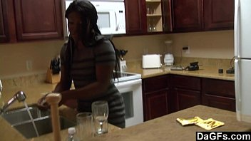xxarxx Ebony with a big ass gets fucked during the dishes