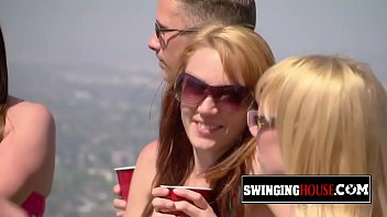 Married swinger couple is ready to have fun and fuck in hot orgies!
