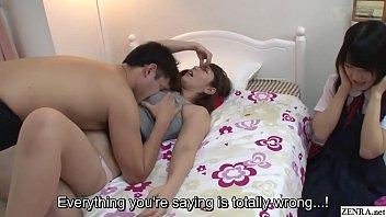 Subtitled JAV insane mother gives daughter sex ed lesson