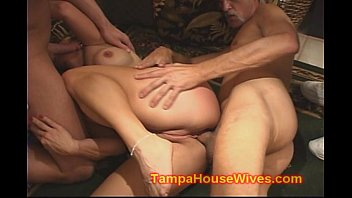 DIRTY BLONDE HOUSEWIFE GETS DP DOUBLE ANALED THREESOME