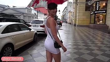 thumb Jeny Smith White See Through Mini Dress In Public