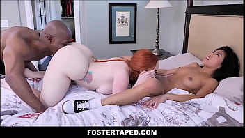 Asian girl and her friend get fucked by a black big dick